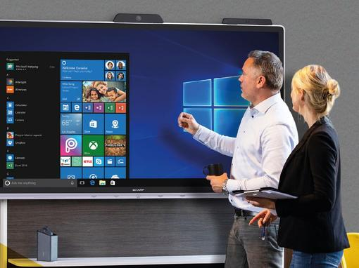 Sharp lanceert Windows Collaboration Displays