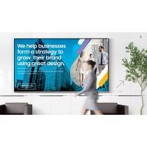 "Samsung QE82N 82"" 4K monitor + Clickshare CSE-200 + Wall Mount"
