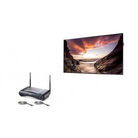 Samsung PM55F + CSE-200 + HDMI1.4 FLEX 0,9m + Universele wandbeugel