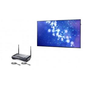 Samsung ED75E + CSE-200 + HDMI1.4 FLEX 0,9m + Universele wandbeugel